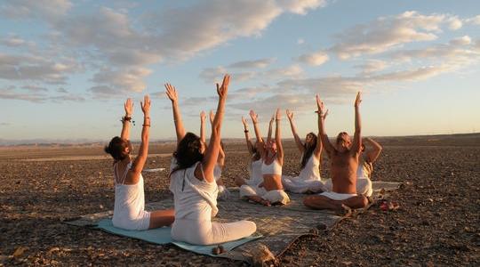 Kundalini yoga practiced at Ashram Bamidbar, Israel